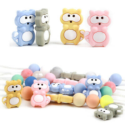 4X Baby Silicone Teething Beads Teether Bead Chewing Pacifier Chain Nursing DIY