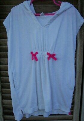 95c03303b6 BABY GAP white terry cloth hooded swimsuit coverup~girl's size 5T~5 years~