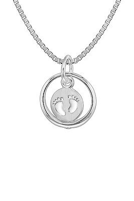 Trendor Jewellery Christening Ring with Children´S Necklace Silver 08309