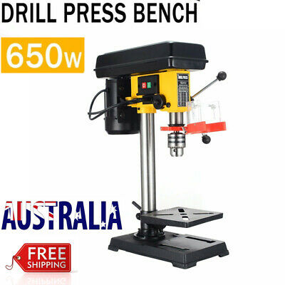 PDTO 650W Drill Press Bench 9 Speed Wood Metal Drilling Stand Base Workshop AU