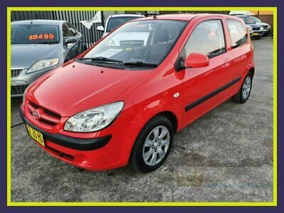 2007 Hyundai Getz TB SX Red Manual M Hatchback