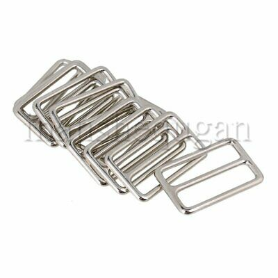 10pcs Zinc Alloy Welded Tri-glides Buckles Nickel Plated 0.3cm Thickness Silver