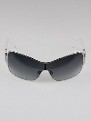 8d990480ee05 Pre-Owned Chanel Collection Perle 4177-H White Pearl Wrap Around Sunglasses