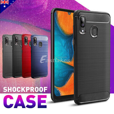 Samsung Galaxy A20 A30 A70 Case Cover, Shockproof Brushed Flexible Silicon