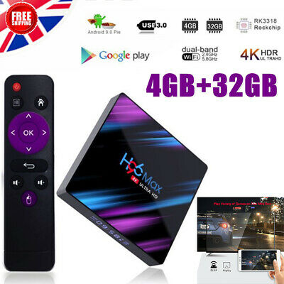 H96 MAX Android 9.0 4GB+32G Quad Core 4K TV Box Wifi Support Google Play Youtube