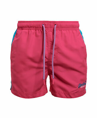New Mens Superdry Beach Volley Swim Shorts Sunblast Pink