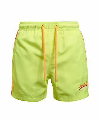 New Mens Superdry Beach Volley Swim Shorts Sunblast Yellow