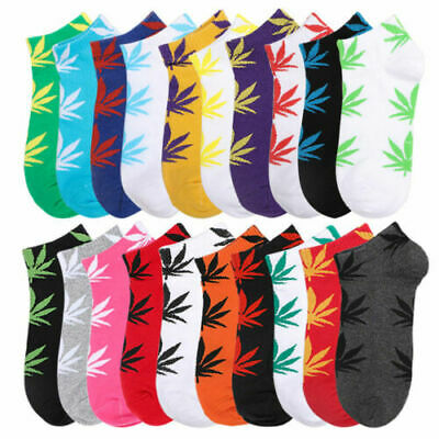 Mens Socks Marijuana Crew Ankle Low Cut Maple Weed Leaf Casual Socks