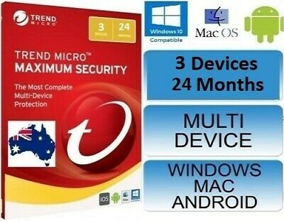 Trend Micro Maximum Security 15 (2019) Licence 3 Devices 24 Month