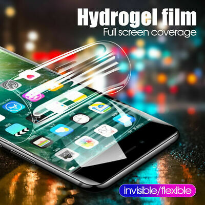 Full Cover Screen Protector Soft Hydrogel Film For iPhone X XS MAX XR 7 8 Plus