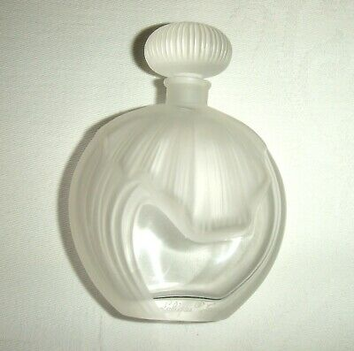 Quality Vintage Signed Lalique Glass Scent/Perfume Bottle ~ with glass stopper