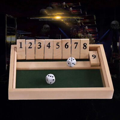 Shut The Box Board Game Number Bar Drinking Games Dice Four Person Gift J