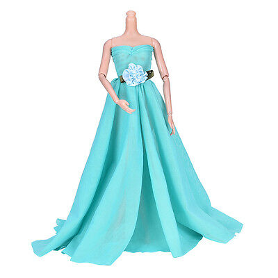 1Pcs Green Wedding Dress Princess Kids Toy For  with Decorative Pattern EF