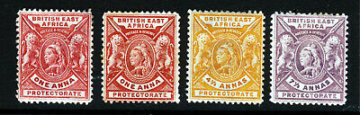 BRITISH EAST AFRICA KUT Queen Victoria 1896-1901 Definitive Group SG 66-73 MINT