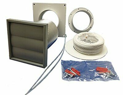 "Tumble Dryer Venting Kit Grey Grille Ventilation Manrose 4"" 100mm Fan 41703"