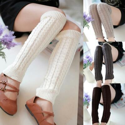 Women Casual Soft Breathable Stretchy Solid Leg Warmers Socks EN24H 05