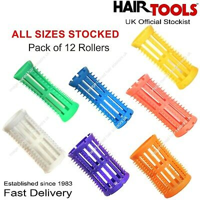 Hair Roller SETTING Curlers Curling Pack of 12 ALL SIZES STOCKED Skelox Rollers