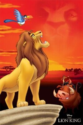 LION KING - KING OF PRIDE ROCK MOVIE POSTER, USA Version, (Size 24 x 36)