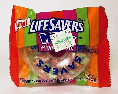 Vintage 2002 Nabisco LIFESAVERS MINIs Mixed Fruit Candy container fleer gum