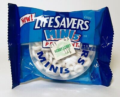 Vintage 2002 Nabisco LIFESAVERS MINIs Peppermint Candy container fleer gum