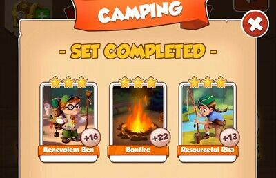 Coin master cards : 3 cards from Camping set