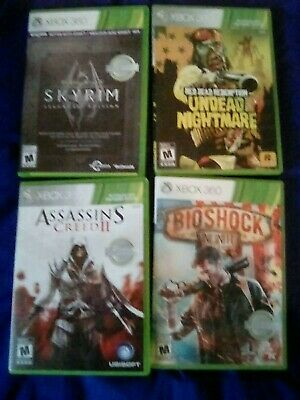 XBOX 360 GAMES Lot Of 12 Red Dead Redemption Assassins Creed