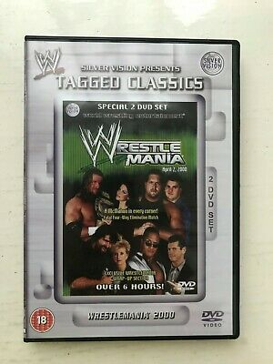 Wwe Wwf Tagged Classics Dvd Wrestlemania 2000 Wrestling 2 Disc Set Pal Uk