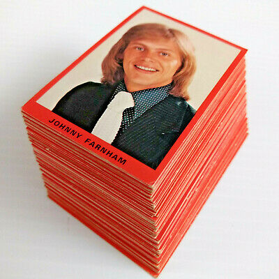 1973 Tip Top Bakeries EMI POP STAR SWAP CARD SERIES LOT OF 101 CARDS
