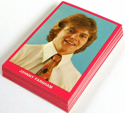 1972 Tip Top Bakeries EMI POP STAR SWAP CARD SERIES SET OF 20 PHOTO CARDS