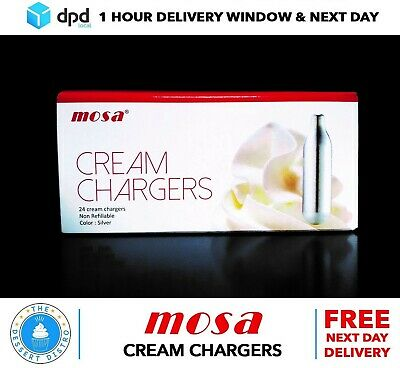 48 MOSA Whipped Cream Chargers £22.49 N2O Nitrous Oxide Gas DPD NEXT DAY £22:49