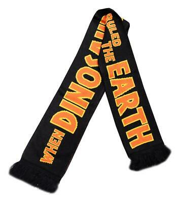 """Jurassic Park Large Knitted Scarf """"When Dinosaurs Ruled The Earth"""""""