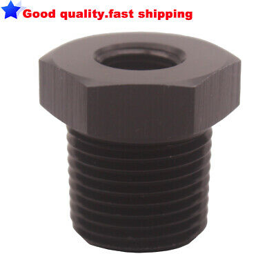 """Straight 3/8""""NPT Male to 1/8""""NPT Female Pipe Adapter Reducer Fitting Bare"""