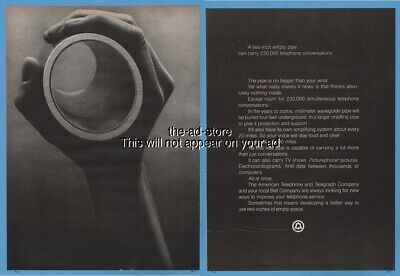 1971 American Telephone and Telegraph Bell millimeter waveguide pipe AT&T ad