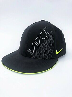 38dadb54 NIKE VAPOR RUNNING Workout Flex Light Green & Black Stretch Fit Cap ...