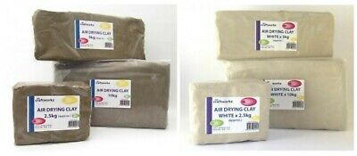 Craftworkz Bulk Air Drying Clay White & Brown 5KGS Tracked Postage