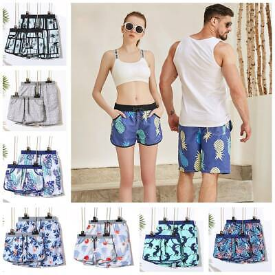 dc2f12e4a0 Mens Womens Couple Summer Lovers Shorts Pants Swim Board Surf Trunks  Swimsuit