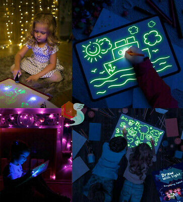Glowing Paint Glow Light Tablet Draw With Light Fun And Developing Toy Kids Gift