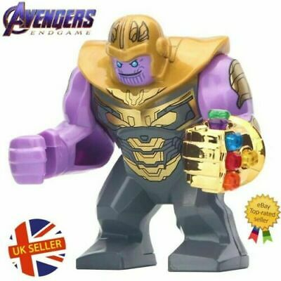 Thanos Figure Lego Fit Gauntlet Gold Armour Avengers End Game Marvel