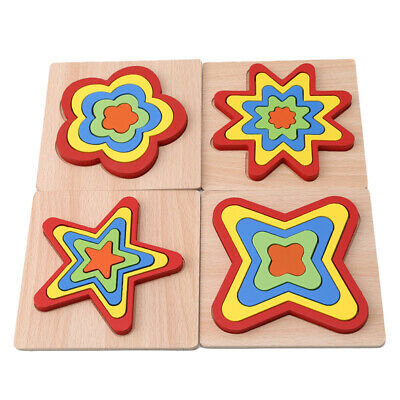 Montessori Educational Wooden Toys for Children Early Learning Puzzles Kids LG