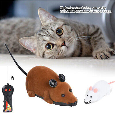 Funny Remote Control RC Rat Mouse High Mice Simulation For Cat Dog Pet Toy Gift