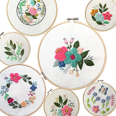 Wooden Cross Stitch Machine Embroidery Hoop Ring Bamboo Sewing 13-30cm BA