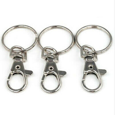 Wholesale Silver Key Chain Lobster Claw Trigger Swivel Clasps Key Ring Parts New