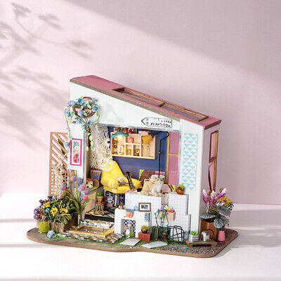 Robotime Miniature Doll House 1:24 Kits Wooden Furniture Home Decor Lily's Porch