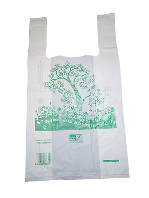 Shoppers Medie 28x50 500 Pezzi Biocompostabili Biodegradabili