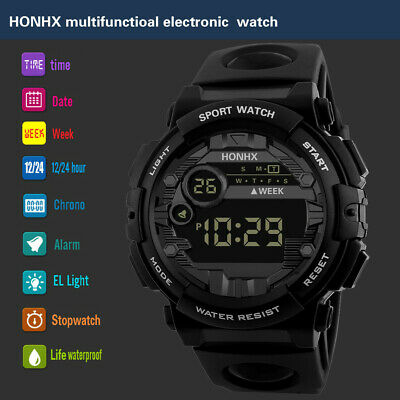 Luxury Men Military Army Digital LED Date Sport Outdoor Electronic Wrist Watches
