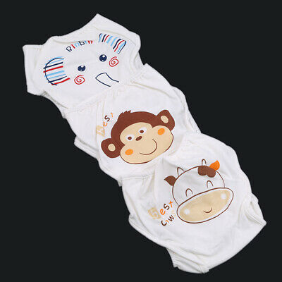 Reusable Baby Infant Nappy Cotton Cloth Diapers Covers Washable Adjustable LC