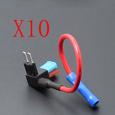 10Pcs 12V 24V Car Motor Add-a-circuit MICRO2 ATR Fuse Holder 15A