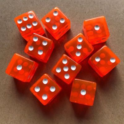 10PCS/kit 16mm Dice Acrylic Transparent D6 Six Sided Acrylic For RPG Gaming Dice