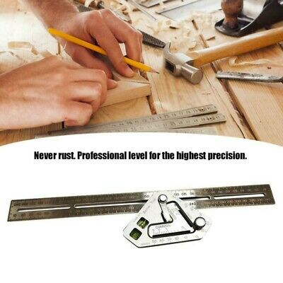 Woodworking Triangle Level Ruler Stainless Steel Measuring Tool Angle Rulers