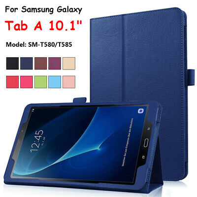 Tablet Leather Stand Flip Cover Case For Samsung Galaxy Tab A 10.1 SM-T580 T585